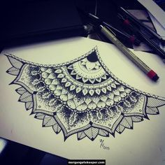 sternum mandala tattoo