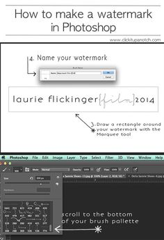how to make a watermark in photoshop