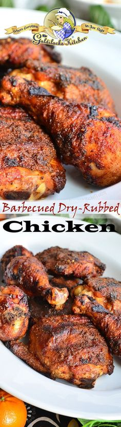 Barbecued Dry-Rubbed Chicken • The Goldilocks Kitchen
