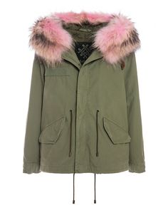 Mr & Mrs Italy - 獨家秋冬經典浣熊皮毛軍裝短大衣 Best Parka, Mr & Mrs Italy, Parka Coat, Trim Color, Mr Mrs, Canada Goose Jackets, Military Jacket, Army, Winter Jackets