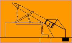 상단에있는 노동자 천천히 더 바람직한 각도로 화강암 오벨리스크를 선회하는 곳으로 더 보드를 밀어 수 있도록 바닥에 노동자 데, 그들은 충분히 아래로 단검을 당겨 것입니다.