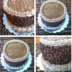 Triple chocolate birthday cake made by Kiss the Cake