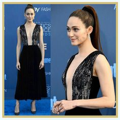 Emmy Rossum At The 22nd Critics' Choice Awards Red Carpet