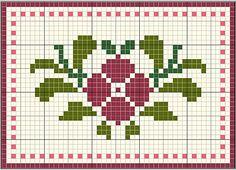 grille broderie fleur 18
