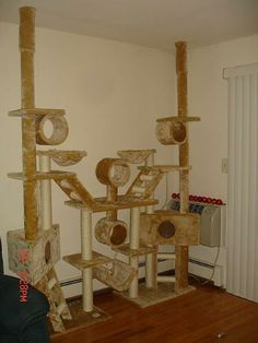 Ultimate Cat Condo....I want one....ok, my cats want it too....