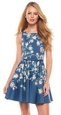 LC Lauren Conrad Floral Fit & Flare Dress - Women's