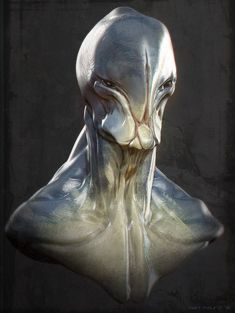 I really like this guy's aliens, his skin colors look so very realistic and the shapes while odd, seem plausible.