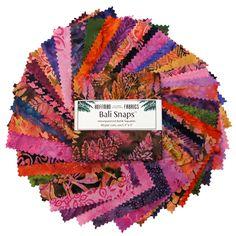 Hoffman Bali Snaps Batik Fabric Squares - Wild Berry by Beverlys.com
