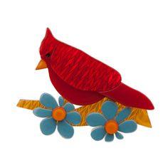 Erstwilder - Ruby the Red Cardinal Brooch - 1