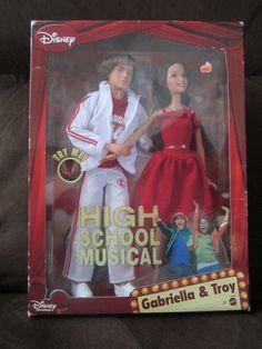 Disney's High School Musical Singing Gabriella (Selena Gomez) & Troy (Zac Efron) Dolls by Mattel - I bought these on E-Bay.