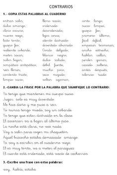 SINONIMOS Y ANTONIMOS | Recursos para Primaria Spanish Language Learning, Teaching Spanish, Teaching English, Spanish Lesson Plans, Spanish Lessons, Spanish Teacher, Spanish Classroom, Vocabulary Building, Spanish Words
