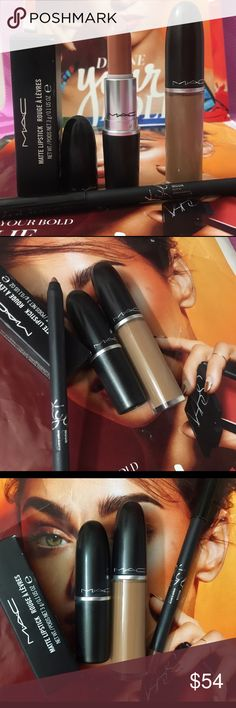 💯💄Mac x2  Matte//Kylie moon Mac & Kylie bundle 1 Mac  1 Kylie all new but moon tried on tissue once ! Osha standards guidelines .new had never been sharpens came from kit as well as dash o bnnb / yash Bnib ! Bundle and save ! Private offers all day ! Im a trusted top 5✨rated seller ! Makeup seller ! Comes with gifts ! Dash o spice sold separate in custom bundle . You will get one yash Bnib and inebfull size Kylie authentic moon lipliner goes amazing with yash ! MAC Cosmetics Makeup…
