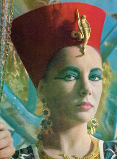 Elizabeth Taylor as Cleopatra, 1963. Photographed by Roddy McDowell.