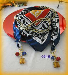 Scarf Necklace, Scarf Jewelry, Jewelry Necklaces, Furoshiki, Jewelry Accessories, Fashion Accessories, Funky Fashion, Neckerchiefs, Scarf Styles