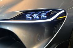 Monterey 2014: Toyota FT-1 Graphite concept - headlights detail