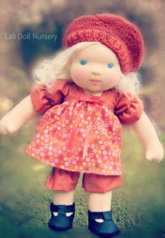 """Willow a 14"""" sculpted waldorf doll"""