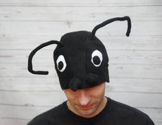 Adult Halloween costume hat, black ant hat, bug feeler hat, bug costume, have fun carnival Ant Costume, Halloween Costume Hats, Adult Halloween, Creative Costumes, Cool Costumes, Toddler Costumes, Adult Costumes, Character Dress Up, Black Ants