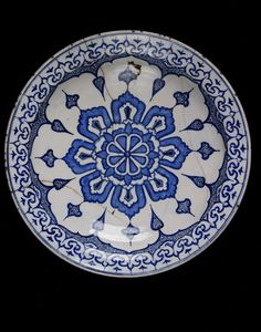 Dish      Place of origin:      Iznik, Turkey (probably, made)     Turkey (made)     Date:      ca 1580 (made)     Artist/Maker:  ...
