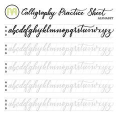 Learn brush and faux calligraphy with these easy to use printable alphabet worksheets. Cursive Handwriting Practice, Cursive Alphabet, Hand Lettering Practice, Calligraphy Practice, Handwriting Worksheets, Spanish Alphabet, Alphabet Worksheets, Lettering Brush, Brush Lettering Worksheet
