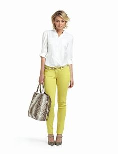 Love the pants and the purse!