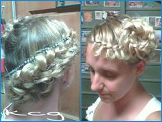 French Braid Friday. I tried the rose braid.
