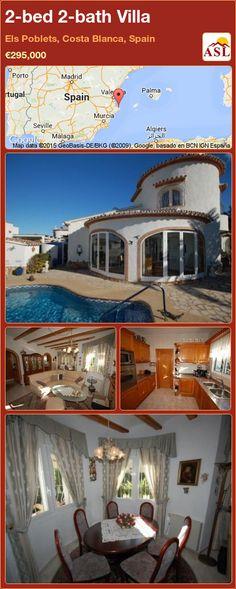 2-bed 2-bath Villa in Els Poblets, Costa Blanca, Spain ►€295,000 #PropertyForSaleInSpain