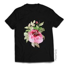Garden Rose T Shirt #clothing #tshirt #tshirts #fashion #blacktees #paintedtshirt #clothes #trending #rosedesign