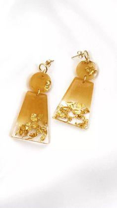 Diy Resin Earrings, Drop Earrings, Bijoux Diy, Diy Stuff, Epoxy, Jewelry, Resin, Festival Jewellery, Open Ring
