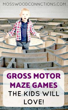 Gross Motor Maze Games are a great way to keep the kids active! Mazes also are a fun way to develop tracking, directionality, & critical thinking skills. Science Games For Kids, Activities For Autistic Children, Indoor Games For Kids, Gross Motor Activities, Preschool Games, Kids Learning Activities, Gross Motor Skills, Abc Games, Outdoor Games