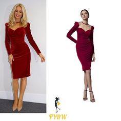 Tess Daly Strictly dress Halloween red velvet dress