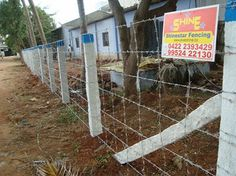 Barbed Wire Fencing  is the most popular type of fencing prevalent in India with over 60% of lands being fenced with barbed wire. There are several designs possible with barbed wire and the height of the fencing can be as per the needs of the customer. The barbed wire can be installed using stone pole, concrete poles or pipes.  Barbed Wire Fencing | Barb Wire Fencing |  Barbed wire fencing manufacturer | Barbed wire fence suppliers http://evershinedynacorp.com/barbed_wire.html