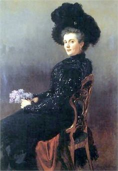 Portrait of a Lady in a Chair, c.1900, by Nikolai Petrovich Bogdanov-Belsky (Russian, 1868-1945)