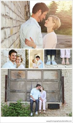 Urban Engagement Session - Brick, Loading Dock, Beautiful Natural Light | Photography by Danielle, Milwaukee, WI