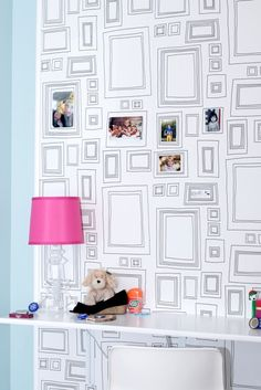 Paint on picture frames teen room