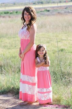 afa86d535f Mom & Daughter Matching Outfits · Ryleigh Rue Clothing by MVB - Mommy Summer  Bliss Maxi In Soft Pink, $48.00 (