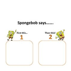 Free Spongebob-themed visual supports for kids with autism
