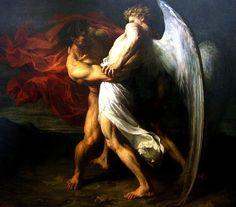 XIII. — Maurice Leloir, Jacob Wrestling the Angel