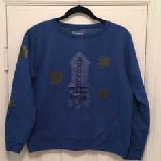 """""""The Shining"""" Inspired Sweatshirt - Homemade I made this sweatshirt for my Halloween costume last year! I dressed as Danny from The Shining. The sweatshirt is blue from Hanes, and is decorated with iron on decals. Machine wash gentle inside out. Hang to dry. Hanes Tops Sweatshirts & Hoodies"""