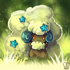 Pokemon : Shiny Whimsicott by Sa-Dui.deviantart.com on @DeviantArt