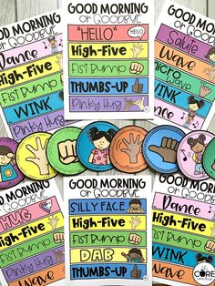 These morning greeting choices will immediately impact your classroom culture! Post these morning greeting signs on your classroom door as teacher or a student greeter warmly welcomes classmates as students choose their morning greeting when entering the room.  You can also post them in any virtual classroom setting.