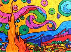 We changed the colors of Van Gogh and Gauguin, with a free interpretation of their works. After observing the original paintings the students of Grade 9 have used felt tip pens and colored pencils,…