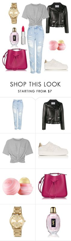 """""""Style"""" by darnelll ❤ liked on Polyvore featuring Topshop, Acne Studios, T By Alexander Wang, NIKE, Eos, 3.1 Phillip Lim, MICHAEL Michael Kors, Yves Saint Laurent and Givenchy"""
