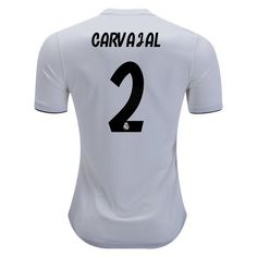 629d45aa9fe 2018 2019 Dani Carvajal Jersey Number 2 Home Authentic Men s Real Madrid  Team Real Madrid