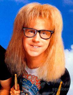 Dana Carvey (as Garth Algar) from the film 'Wayne's World' 1992 This . Dana Carvey, 1990s Nostalgia, Wayne's World, Past Presidents, New Glasses, Large Photos, 90s Kids, Funny People, Rock Music
