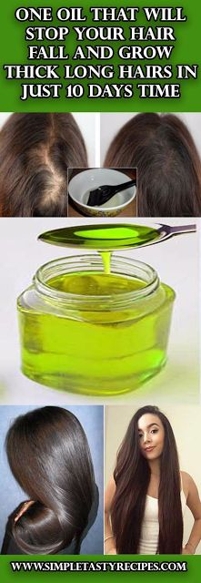 One oil that will stop your hair fall and grow thick long hairs in just 10 days . - One oil that will stop your hair fall and grow thick long hairs in just 10 days time - Natalijafurekmek - - Hair Remedies, Natural Remedies, Natural Treatments, Skin Treatments, Natural Hair Styles, Long Hair Styles, Tips Belleza, Hair Health, About Hair