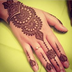 Latest Simple Eid Mehndi Designs Collection 2015-2016 (2)