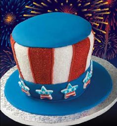 star and stripes cake - its Uncle Sam's hat!