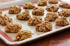 Pumpkin Spiced Oatmeal Pecan Cookies | Skinnytaste - halved the recipe; baked for 12 minutes; delicious but came out more like bites then looking like cookies; tasted like delicious breakfast maybe not dessert