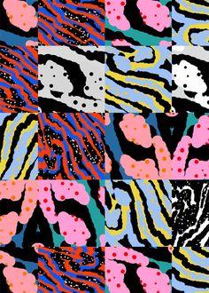 Mirella Bruno Cross Pollinating Pattern Visionist and Designer Textile Pattern Design, Surface Pattern Design, Textile Patterns, Textile Prints, Pattern Art, Abstract Pattern, Graphic Patterns, Print Patterns, Wallpaper Kawaii