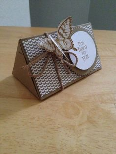 Triangular box using the gift bag punch board